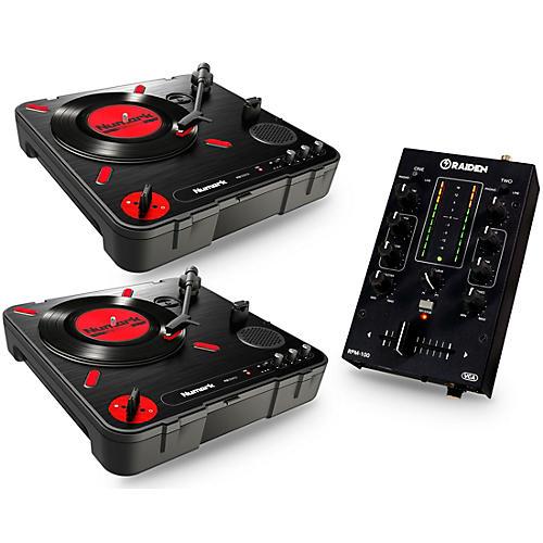 numark portablism battle bundle with pt 01 scratch turntables and rpm 100 portable dj mixer. Black Bedroom Furniture Sets. Home Design Ideas