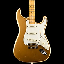 Postmodern Journeyman Relic Stratocaster Maple Fingerboard Electric Guitar HLE Gold
