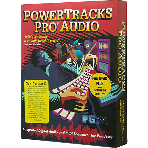 PG Music PowerTracks Pro Audio 12 PowerPAK Plus 2009 for Windows