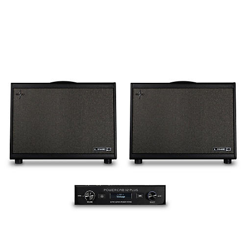 Line 6 Powercab 112 Plus 250W 1x12 FRFR Powered Speaker Cab Bundle