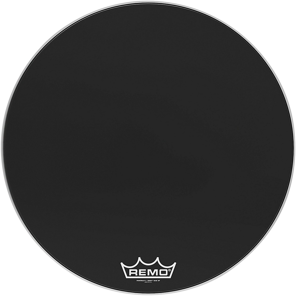 Remo Powermax 2 Ebony Crimplock Bass Drum Head
