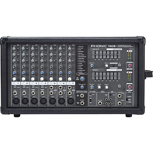 Phonic Powerpod 740 Plus 2X220W 7-Channel Powered Mixer with Digital Effects
