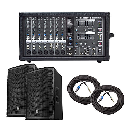 Phonic Powerpod 780 Plus Mixer with EKX Speakers PA Package