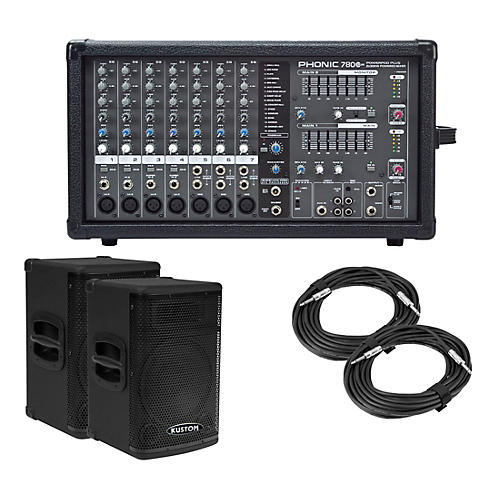 Phonic Powerpod 780 Plus Mixer with KPX Speakers PA Package
