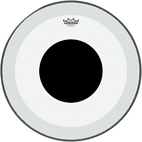 remo powerstroke 3 clear bass drum head with black dot guitar center. Black Bedroom Furniture Sets. Home Design Ideas