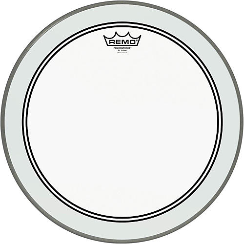 remo powerstroke 3 clear bass drum head with impact patch 16 in guitar center. Black Bedroom Furniture Sets. Home Design Ideas