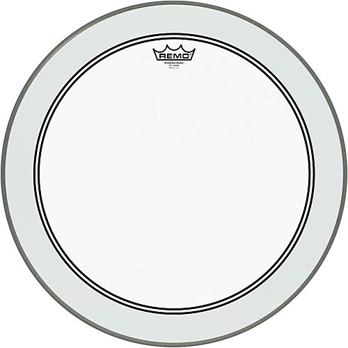 remo powerstroke 3 clear bass drum head with impact patch 22 in guitar center. Black Bedroom Furniture Sets. Home Design Ideas