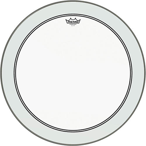 remo powerstroke 3 clear bass drum head with impact patch 24 in guitar center. Black Bedroom Furniture Sets. Home Design Ideas