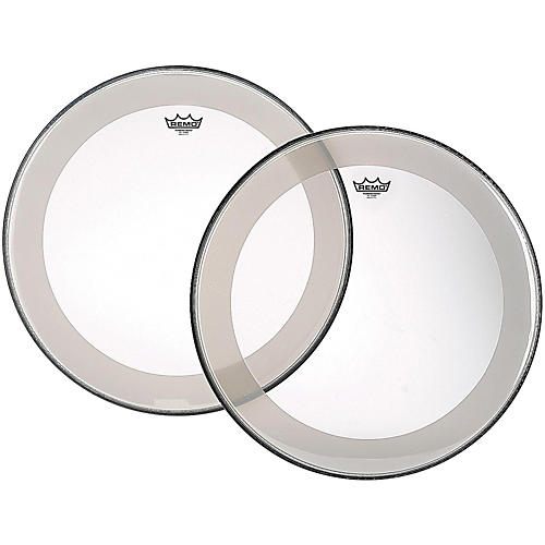 Remo Powerstroke 4 Clear Batter Bass Drum Head with Impact Patch