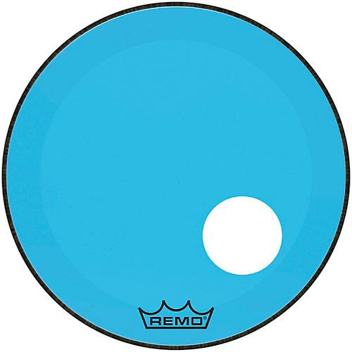 Remo Powerstroke P3 Colortone Blue Resonant Bass Drum Head with 5
