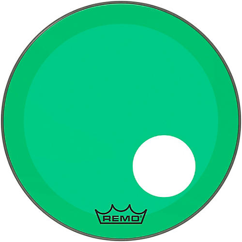 Remo Powerstroke P3 Colortone Green Resonant Bass Drum Head 5