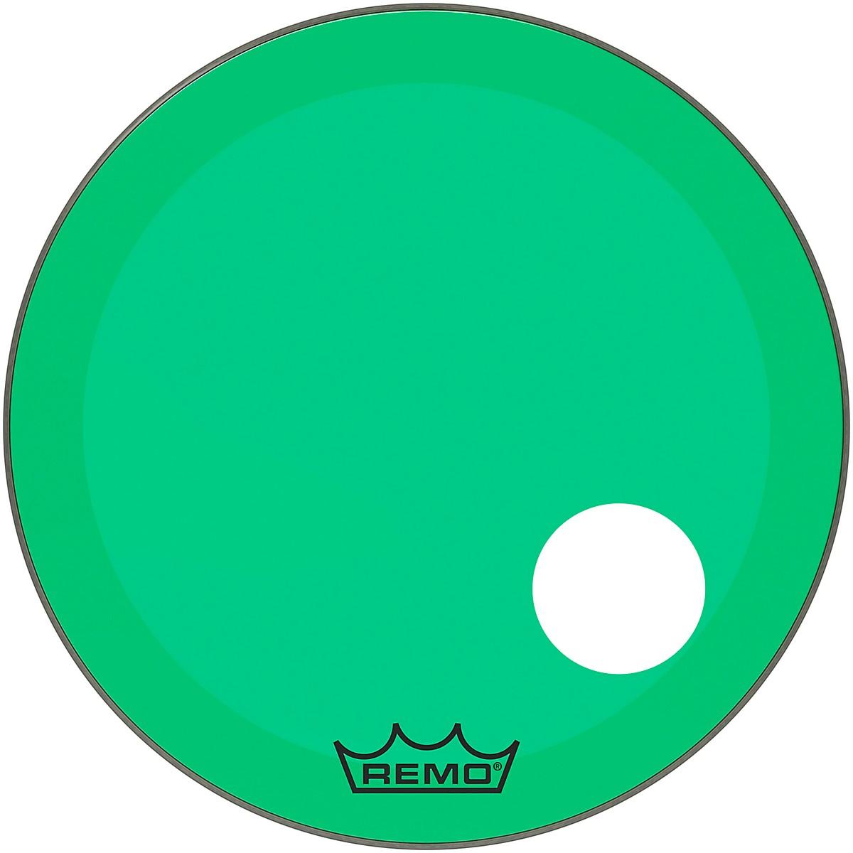 Remo Powerstroke P3 Colortone Green Resonant Bass Drum Head 5