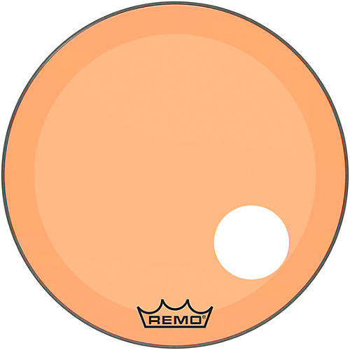 Remo Powerstroke P3 Colortone Orange Resonant Bass Drum Head with 5