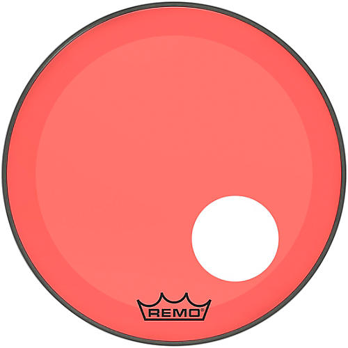 Remo Powerstroke P3 Colortone Red Resonant Bass Drum Head with 5