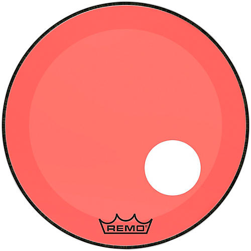remo powerstroke p3 colortone red resonant bass drum head with 5 offset hole guitar center. Black Bedroom Furniture Sets. Home Design Ideas