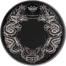 Remo Powerstroke Tattoo Skyn Bass Drumhead, Black