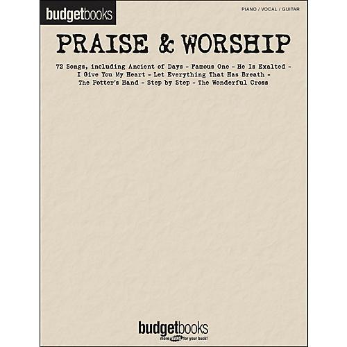 Hal Leonard Praise & Worship - Budget Books arranged for piano, vocal, and guitar (P/V/G)