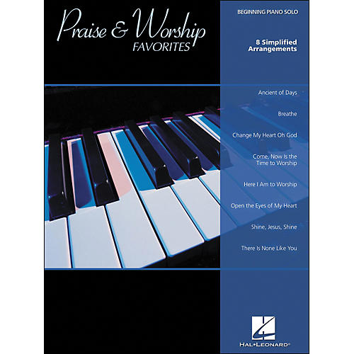 Hal Leonard Praise & Worship Favorites Beginning Piano Solo