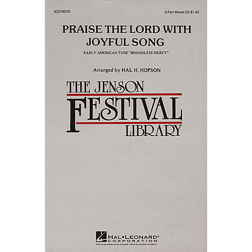 Hal Leonard Praise the Lord with Joyful Song 3-Part Mixed arranged by Hal Hopson