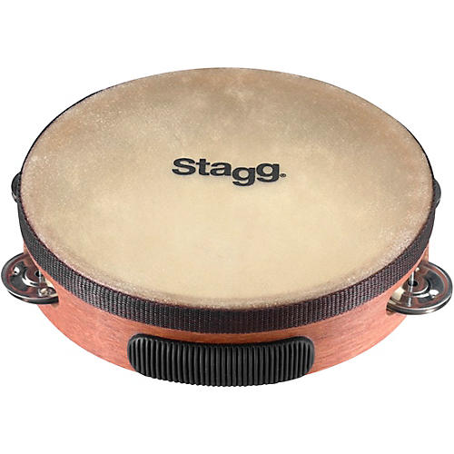 Stagg Pre-Tuned Wood Tambourine With Single Row Jingles