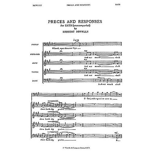 Novello Preces and Responses SATB Composed by Herbert Howells