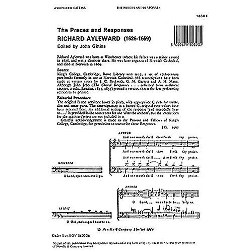 Novello Preces and Responses SATB Composed by Michael Nicholas Arranged by Richard Ayleward