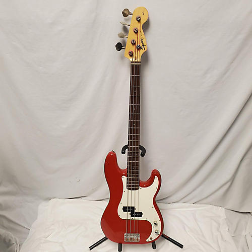 used squier precision bass electric bass guitar red guitar center. Black Bedroom Furniture Sets. Home Design Ideas