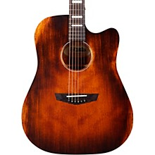 D'Angelico Premier Bowery Aged Natural Mahogany Acoustic-Electric Guitar