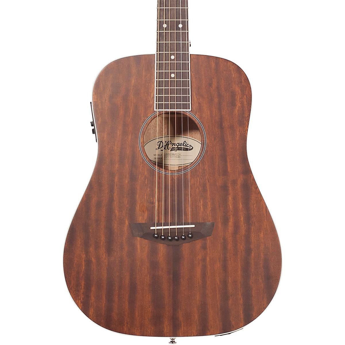 D'Angelico Premier Niagara Mahogany Mini Dreadnought Acoustic-Electric Guitar