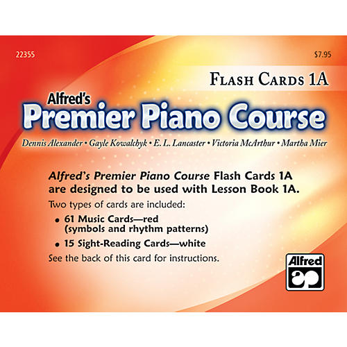 Alfred Premier Piano Course Flash Cards Level 1A