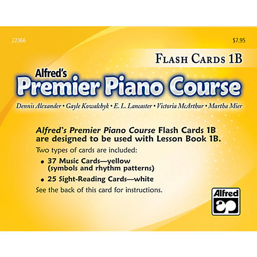 Alfred Premier Piano Course Flash Cards Level 1B