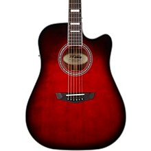 Premier Series Bowery Cutaway Dreadnought Acoustic-Electric Guitar Trans Black Cherry Burst