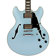 Premier Series DC Boardwalk Semi-Hollow Electric Guitar with Seymour Duncan Humbuckers Ice Blue Metallic