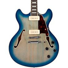 Premier Series DC Boardwalk Semi-Hollow Electric Guitar with Seymour Duncan P90s Blue Burst