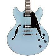 Premier Series DC Boardwalk Semi-Hollow Electric Guitar with Seymour Duncan P90s Ice Blue Metallic
