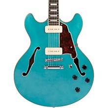 Premier Series DC Boardwalk Semi-Hollow Electric Guitar with Seymour Duncan P90s Level 2 Ocean Turquoise 194744036255