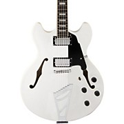 Premier Series DC Semi-Hollowbody Electric Guitar with Stairstep Tailpiece White