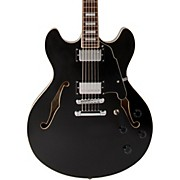 Premier Series DC with Stop Tail Piece Hollowbody Electric Guitar Black