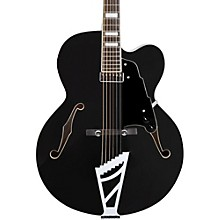 Premier Series EXL-1 Hollowbody Electric Guitar with Stairstep Tailpiece Level 2 Black 190839667755