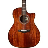 D'Angelico Premier Series Gramercy Koa Grand Auditorium Acoustic-Electric Guitar Natural