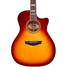 Premier Series Gramercy Single Cutaway Grand Auditorium Acoustic-Electric Guitar Iced Tea Burst
