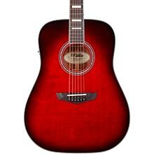 Premier Series Lexington Dreadnought Acoustic-Electric Guitar Trans Black Cherry Burst