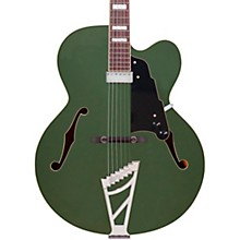 Premier Series Limited Edition EXL-1 Hollowbody Electric Guitar Army Green Black Pickguard