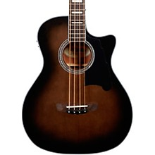 Premier Series Mott Single Cutaway Acoustic Bass with Onboard Preamp and Tuner Grey Black