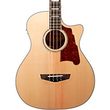 Premier Series Mott Single Cutaway Acoustic Bass with Onboard Preamp and Tuner Natural