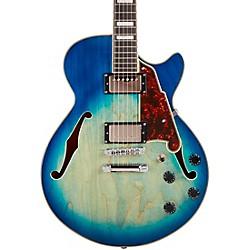 Premier Series SS Boardwalk Semi-Hollow Electric Guitar USA Seymour Duncan Humbuckers Stopbar Tailpiece Blue Burst