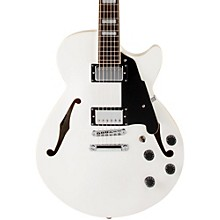 Premier Series SS Semi-Hollowbody Electric Guitar with Center Block and Stopbar Tailpiece White