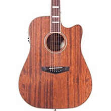 D'Angelico Premiere Riverside Cutaway Dreadnought Acoustic-Electric Guitar Level 1 Mahogany