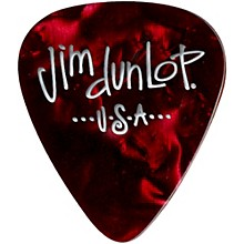 Dunlop Premium Celluloid Classic Guitar Picks 1 Dozen Red Pearloid Thin