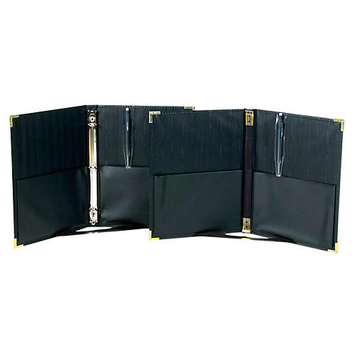 Marlo Plastics Premium Concert Choral Folder 9-1/4 x 12 with 3-ring binder - Black